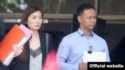 Linda Seah Lei Sie (kiri) bersama suaminya, Li Toon Leng dinyatakan bersalah karena penyiksaan terhadap pembantunya, 18 Januari 2019. (Foto: dok).