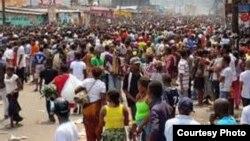 FILE - Protesters in the Democratic Republic of Congo.