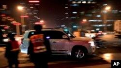 Một chiếc xe trên đường phố Bắc Kinh ngày 12/12/2016.