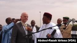 En images : arrivée de Infantino au Niger