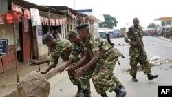 Crise au Burundi.