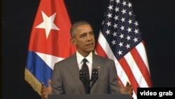 Presiden Obama menyampaikan pidato untuk rakyat Kuba di Havana (22/3).