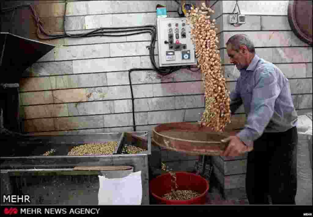 تفت آجیل در بازار تهران