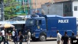 Des unités militaires et de police sont déployées à Kinshasa, 19 décembre 2016