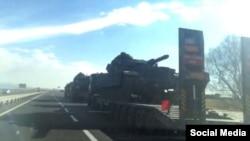 ادوات نظامی ترکیه در مرز عراق