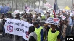 反穆斯林影片示威者