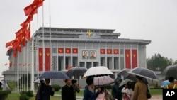 북한 7차 당 대회가 열리고 있는 4.25 문화회관 전경 (자료사진)