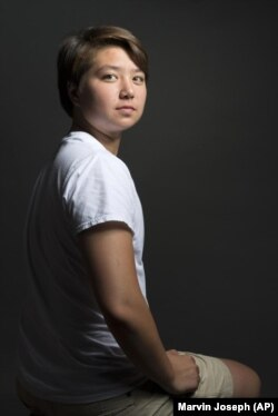MARVIN JOSEPH/AP Schuyler Bailar was recruited as a woman to swim for Harvard, but he will now swim for the men's team after transitioning.