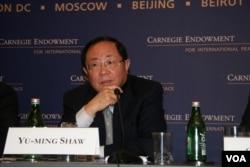 台湾国立政治大学外交系教授邵玉铭(美国之音钟辰芳拍摄)