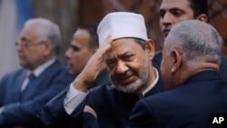 Sheikh Ahmed el-Tayeb, le grand Imam of Al-Azhar, au Caire, en Egypte, le 26 avril 2017.