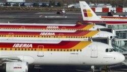 شرکت هواپیمایی اصلی اسپانیا، ایبریا، روز شنبه گفت به دلیل اعتصاب تمام پروازها را تا بامداد یکشنبه لغو کرده است