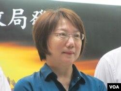 台大社會系教授范雲。(美國之音張永泰拍攝)