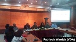 Konferensi Pers Survei LIPI mengenai masalah Papua, Jakarta, 14 Desember 2017.(Fathiyah Wardah/VOA)