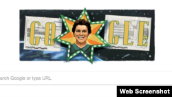 A screenshot of the Google Doodle honoring the 110th birthday of Mary Ross.