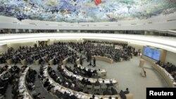 Một phiên họp của Hội đồng Nhân quyền Liên hiệp quốc ở Geneve