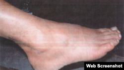 Capture d'écran d'une photo de sévice extraite du site du Pentagone.