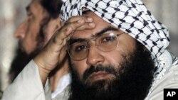 基地组织在巴基斯坦的恐怖组织穆罕默德军的首领马苏德·阿兹哈尔 (资料照片)