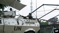 United Nations Peacekeepers protect unarmed civilians in the Democratic Republic of Congo