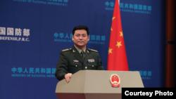 中國國防部發言人任國強(中國國防部網站)