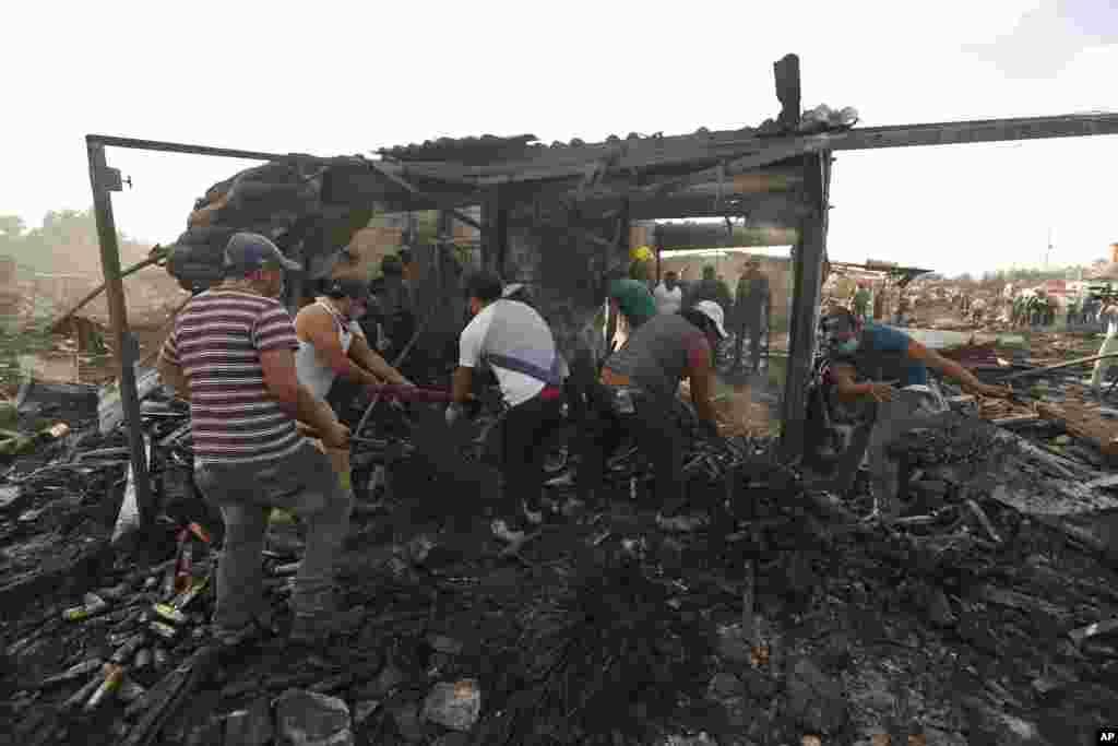 حکام کے مطابق بازار میں تقریباً سب ہی سٹال تباہ ہوئے اور قرب و جوار کی عمارتوں اور گاڑیوں کو بھی نقصان پہنچا۔