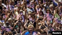 Масовий мітингу у Нью-Йорку на підтримку Гілларі Клінтон