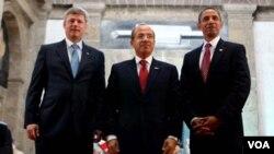 El primer ministro Harper, y los presidentes Calderón y Obama se reunirán el 2 de abril en Washington.