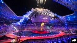 Церемония открытия Всемирной летней Универсиады-2013 в Казани. 7 июля 2013 г.
