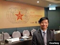 位于台北的国家政策研究基金会高级助理研究员揭仲
