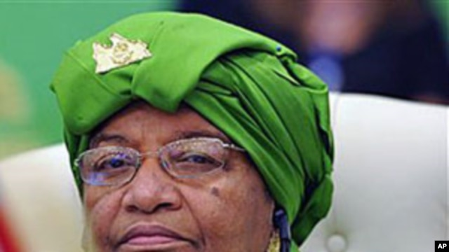 Liberia's President Ellen Johnson Sirleaf, during the first session of the 3rd Africa-EU Summit in Tripoli, Libya, November 29, 2010 (file photo)