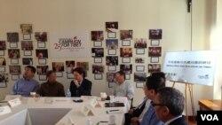 西藏问题圆桌讨论 (美国之音钟辰芳拍摄)