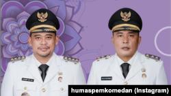 Wali Kota Medan, Muhammad Bobby Afif Nasution, S.E., M.M. (kiri) dan Wakil Wali Kota Medan H.Aulia Rachman, S.E. (Foto: IG/humaspemkomedan)