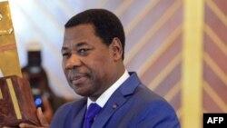 Thomas Boni Yayi à Yamoussoukro, en Côte d'Ivoire , le 28 mars 2014.