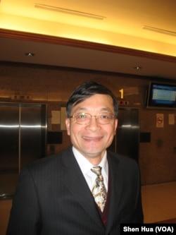 亲民党立委李桐豪(美国之音申华拍摄)
