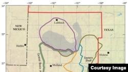 ٹیکساس کے پرمیان بیسن کا علاقہ جہاں سے شیل آئل کا سب سے بڑا ذحیرہ دریافت ہوا ہے۔