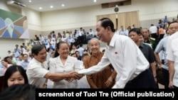 Chủ tịch Trần Đại Quang gặp cử tri ở thành phố HCM, tháng 6/2018