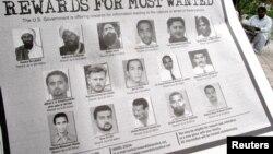 悬赏捉拿 恐怖分子通告:要犯阿布·阿纳斯·利比(第三行左二)
