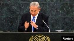 Trong bài diễn văn tại phiên họp thường niên của Đại hội đồng LHQ, ông Netanyahu tố cáo Tổng thống Iran Hassan Rouhani thực hiện một chiến lược để tăng cường chương trình vũ khí hạt nhân của Iran.