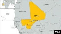 Mali, Africa, towns of Konna, Mopti and Bamako