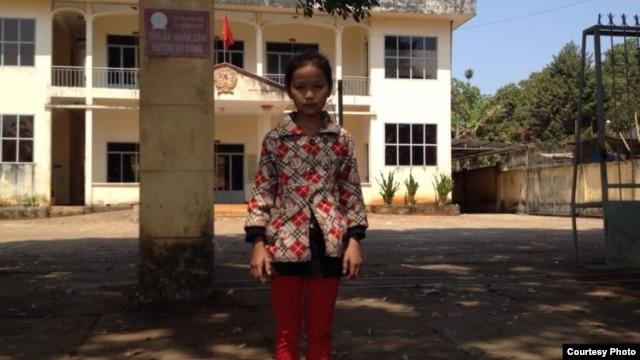 Em Ngô Thị Cẩm Hiếu, học sinh lớp 6B trường trung học cơ sở Nguyễn Khuyến ở tỉnh Bình Phước