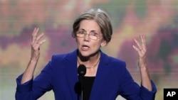 Kandidat Senator AS untuk negara bagian Massachusetts, Elizabeth Warren menjadi salah satu 'bintang' DNC 2012 di Charlotte, NC (4/9).