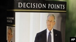 "President George W. Bush's new book ""Decision Points"" is photographed in Washington, Monday, Nov. 8, 2010. (AP Photo/J. David Ake)"