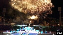 Upacara pembukaan Olimpiade Musim Dingin Pemuda Eropa 2019 (10/2) di Sarajevo, Bosnia