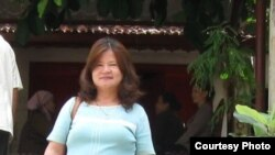 Nguyen Thi Nga, wife of jailed Vietnamese writer Nguyen Xuan Nghia. Photo: Nguyen Thi Nga, date unknown