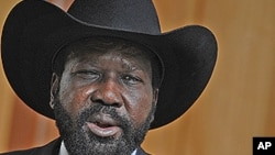 Shugaban sabuwar kasar Sudan ta Kudu Salva Kiir.
