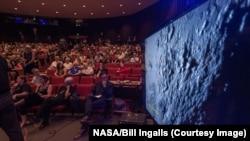 Presentación de las imágenes tomadas por el New Horizons en el Laboratorio de Física Aplicada de la Universidad Johns Hopkins en Laurel, Maryland.