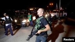 نیروهای امنیتی در شهرک اسرائیلی آدام - ۲۶ ژوئیه ۲۰۱۸