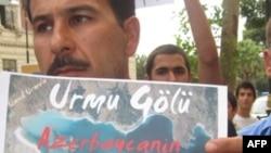 DAK İran səfirliyi qarşısında etiraz aksiyası keçirib