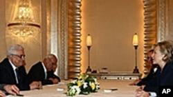 克林顿会晤巴勒斯坦权力机构主席阿巴斯