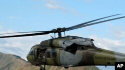سقوط هلیکوپتر ناتو در هلمند
