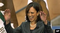 FILE - California Attorney General Kamala Harris.